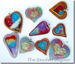 CaBezel hearts: The Beaded Bazaar